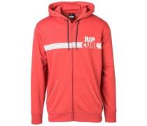 Big M Zip Hoodie mineral red