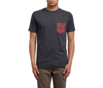 Pocket Hth T-Shirt heather black