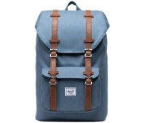 Little America Mid Volume Backpack blue mirage crosshatch