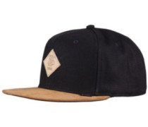 Light Canvas Snapback Cap black