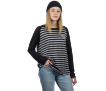 Melvin T-Shirt LS black stripe
