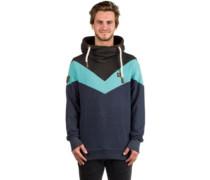 Kifferboarder Hoodie indigo blue melange