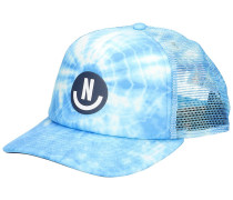 Smile Wash Trucker Cap cyan wash