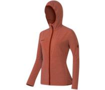 Luina Ml Hooded Jacket maroon melange