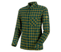 Belluno Tour Shirt LS dark teal-citron