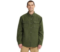Brighton Insulated Flannel Shirt LS dusty olive twill yarn dy