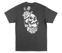 Skully Rose T-Shirt charcoal