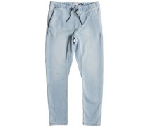 Fonic Straight Fleece Bleached Jeans bleached surf