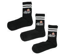 Pullo 3 Pack Socks (6 - 8.5 ) black