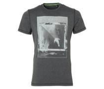Framed Hybrid T-Shirt dark grey melee