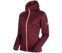 Get Away Hooded Fleece Jacket merlot melange