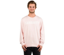 College Sweater sandy rose heather white