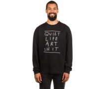 Art Shit Crew Neck Sweater black