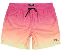 All Day Faded Layback Boardshorts neon orange