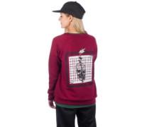 Rose Grid Sweater burgundy