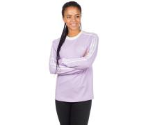 3 Stripe Long Sleeve T-Shirt purple glow