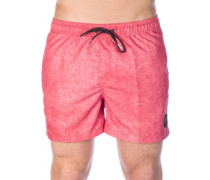 """Acid Volley 15"""" Boardshorts mineral red"""