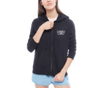 Full Patch Raglan Zip Hoodie black