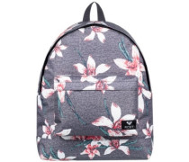 Be Young Backpack charcoal heather flower f