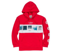 Negative Hoodie fire red