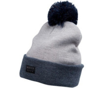 Disaster Pompom Beanie Youth navy heather