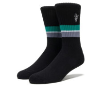 1984 Stripe Crew Socks black