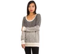 2 Tone Biquet Knit Sweater grey mel
