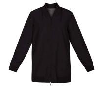 Reversible Bomber Tunic Jacket black