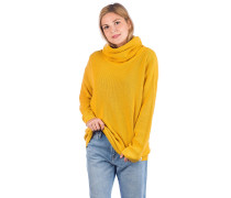 Mock Turtle Knit Pullover honey