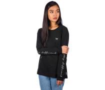Stay Sleeve Print T-Shirt LS black
