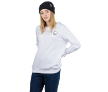 BT Rose 2 Backprint Crew Sweater white