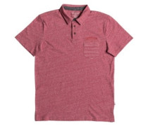 Shd Stripe Pocket Polo mineral red heather