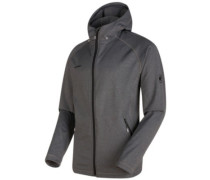 Runbold Ml Hooded Fleece Jacket black mélange