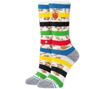 Petal Power Crew Socks white