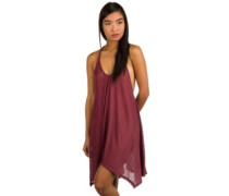 Twisted View Dress plum berry