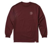 Spot T-Shirt LS burgundy