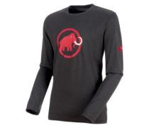 Logo T-Shirt LS phantom melange