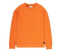 Die Cut Stripe Crew Sweater dark orange