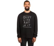 Art Shit Crew Neck Sweater black