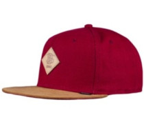 Light Canvas Snapback Cap wine