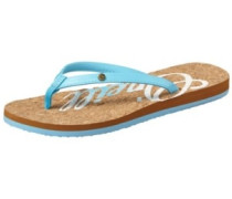 Logo Cork Sandals Women arctic blue
