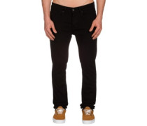 K Skinny Denim Jeans jet black