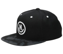 Daily Smile Pattern Cap black wash