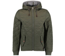 Quilted Insulator Jacket olive leaves