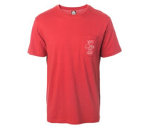 To The Grave Pocket T-Shirt red