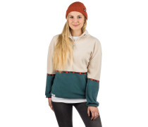 Hopi Fleece Troyer Sweater dark teal