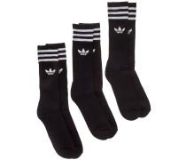 Solid Crew Socks white