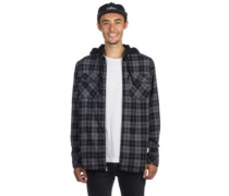 Chancer Zip Hood Shirt LS charcoal
