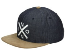 Exchange Snapback Cap black denim