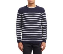 Edmonder Striped Pullover navy